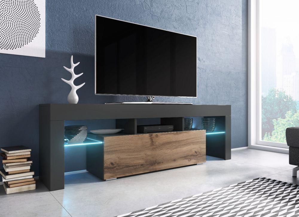 CAMA MEBLE TV stolík TORO 138 Farba: antracyt/wotan