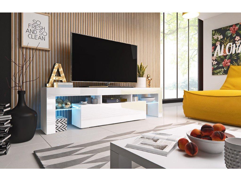 CAMA MEBLE TV stolík TORO 158 Farba: biela