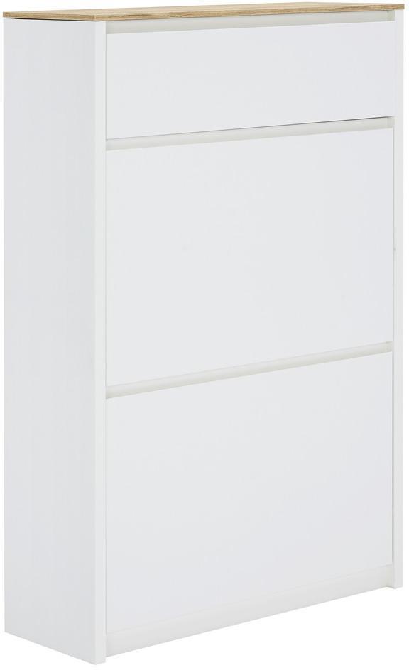 Carryhome BOTNÍK, biela, farby dubu, 69,6/107,1/24,8 cm - biela, farby dubu