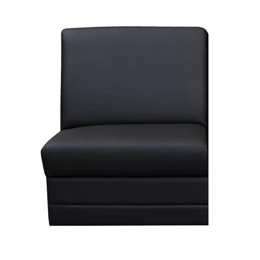Celočalúnený jednosed, ekokoža čierna, BITER 1 BB