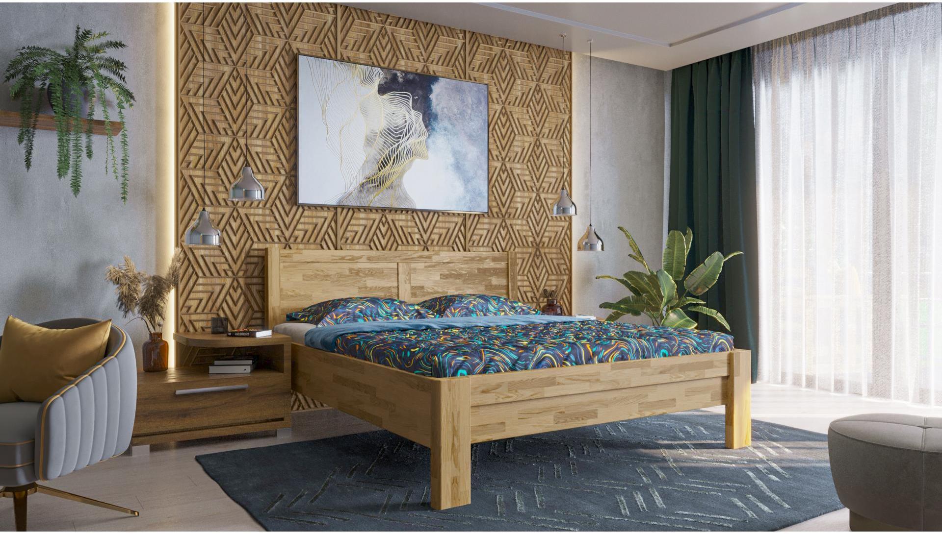 Celomasívna posteľ Celin H3 180x200 cm dub D1