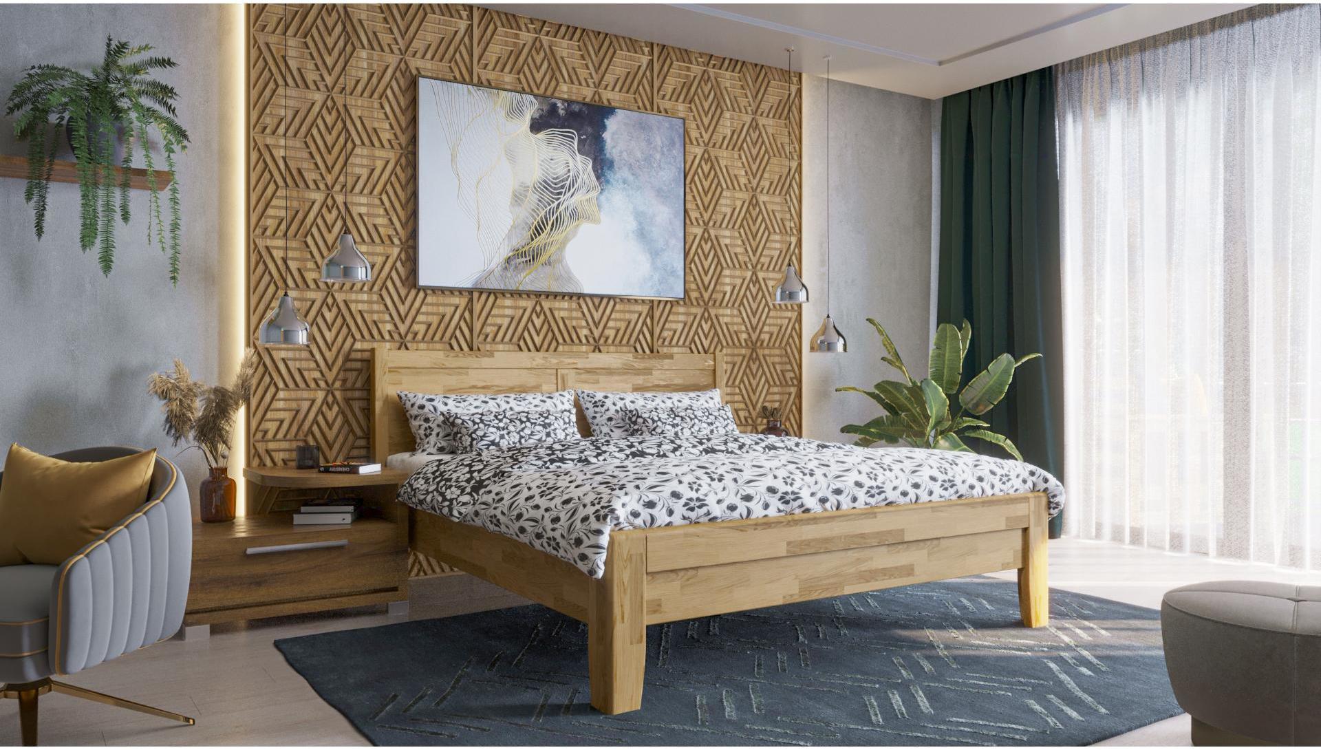 Celomasívna posteľ Celin K3 140x200 cm dub D1