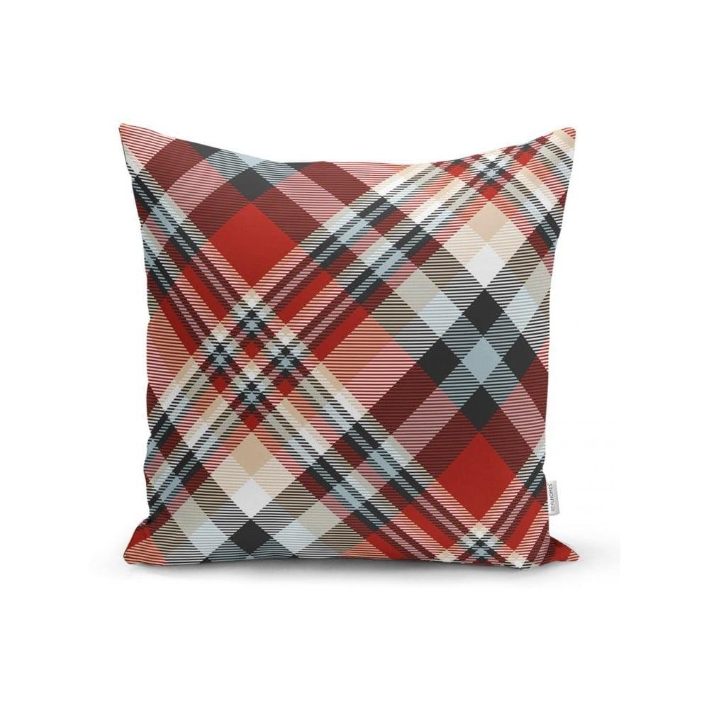 Červená dekoratívna obliečka na vankúš Minimalist Cushion Covers Flannel, 35 x 55 cm