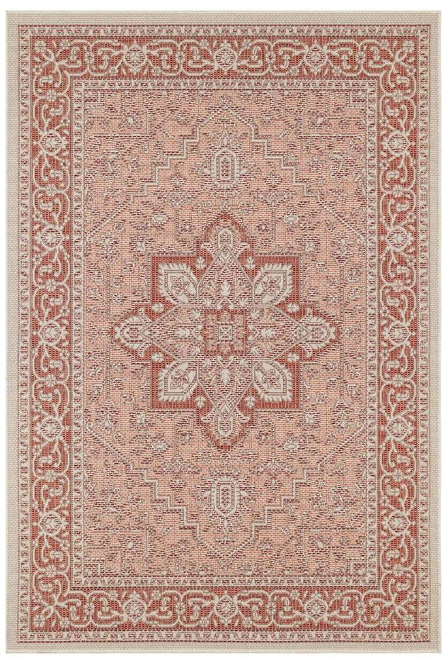 Červeno-béžový vonkajší koberec Bougari Anjara, 160 x 230 cm