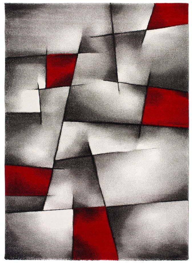 Červeno-sivý koberec Universal Malmo, 140 × 200 cm