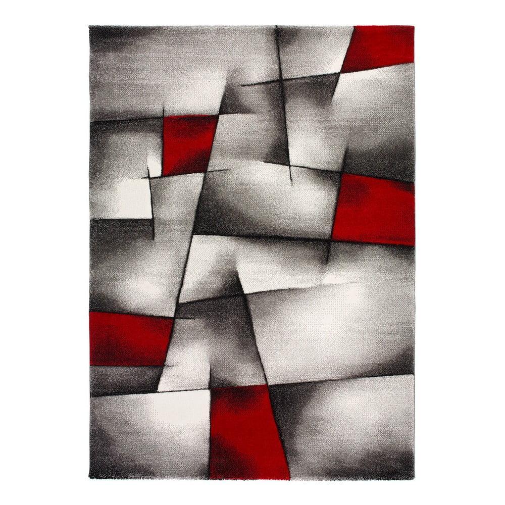 Červeno-sivý koberec Universal Malmo, 160 × 230 cm