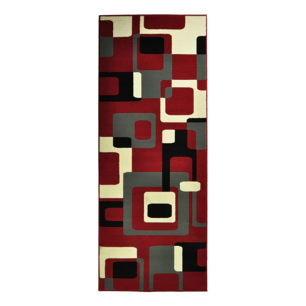 Červený koberec Hanse Home Hamla Retro, 80 × 150 cm