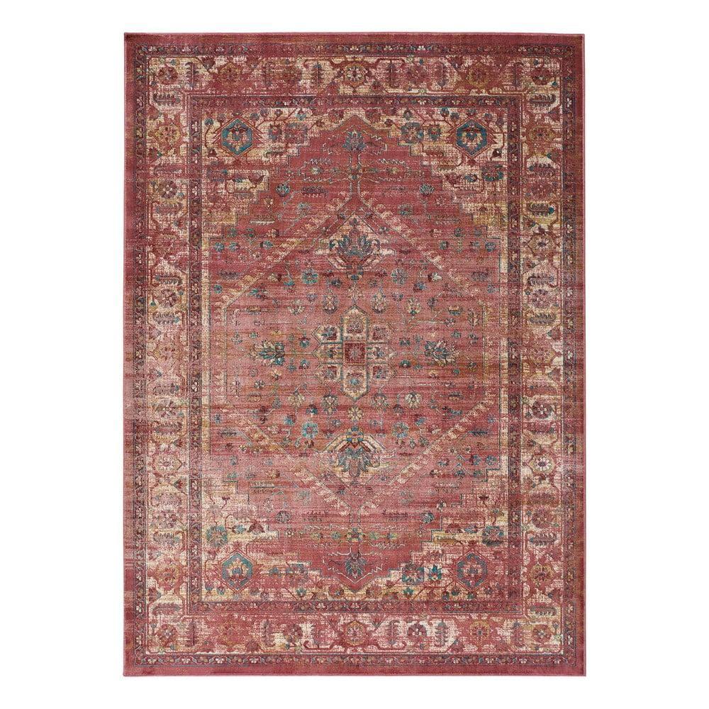 Červený koberec z viskózy Universal Vintage Retro, 140 x 200 cm