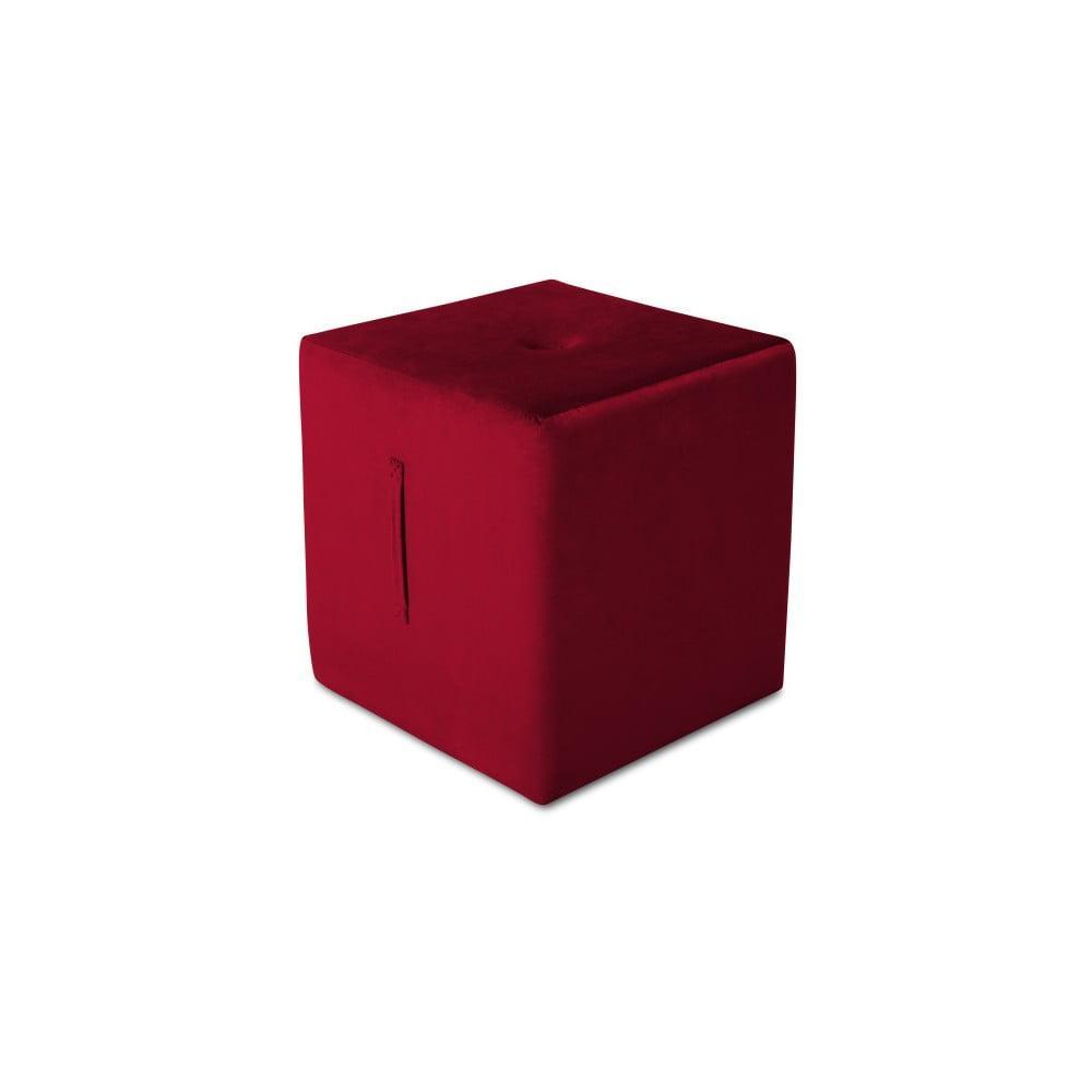Červený puf Mazzini Sofas Margaret, 40 × 45 cm