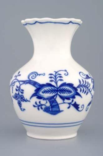 Český porcelán, a.s., Dubí Váza 13,5 cm, cibulák, Český porcelán