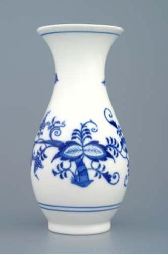 Český porcelán, a.s., Dubí Váza 16,5 cm, cibulák, Český porcelán