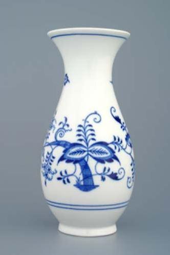 Český porcelán, a.s., Dubí Váza 20 cm, cibulák, Český porcelán