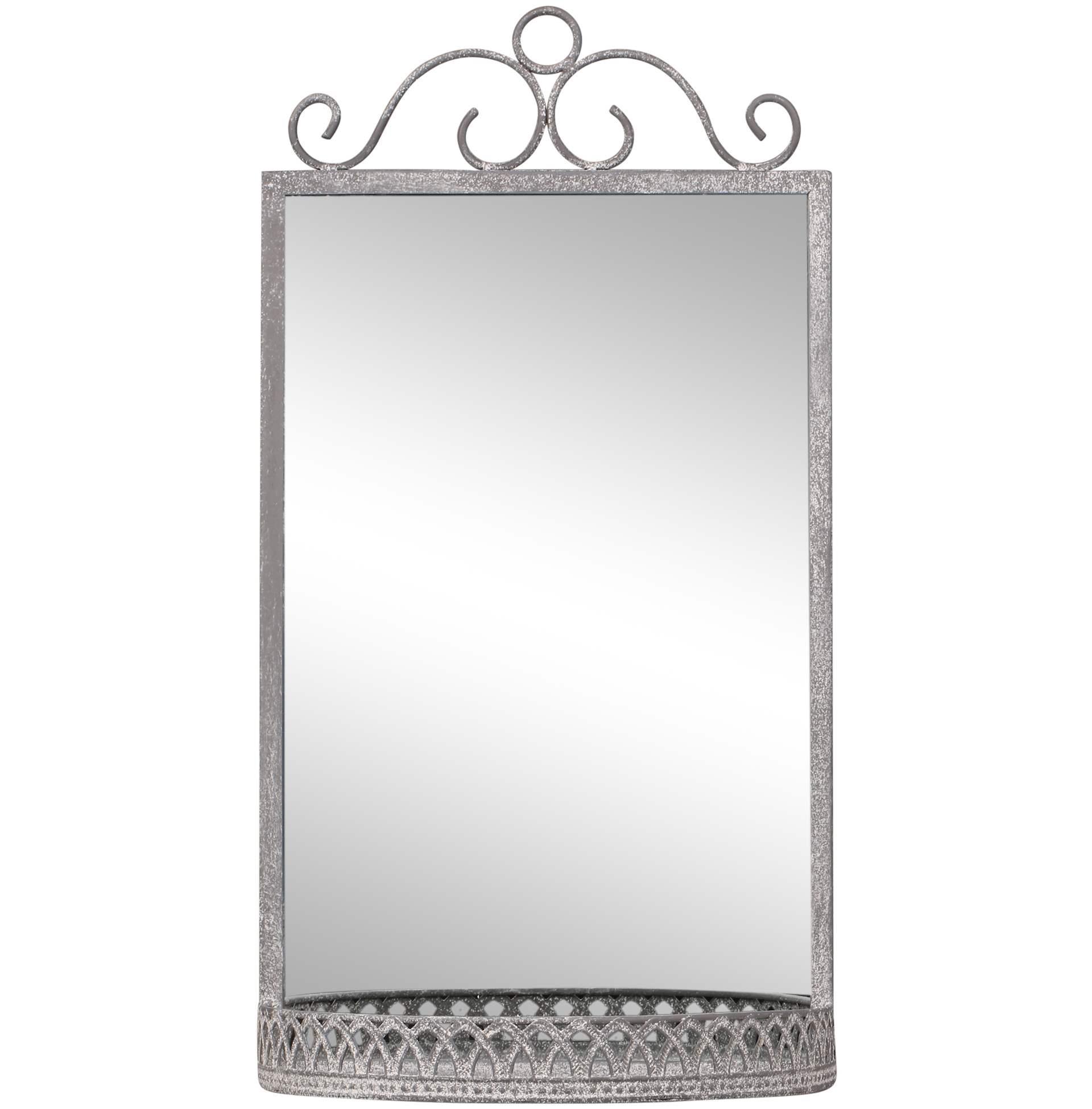 Chic Antique Zrkadlo s poličkou Antique Zinc