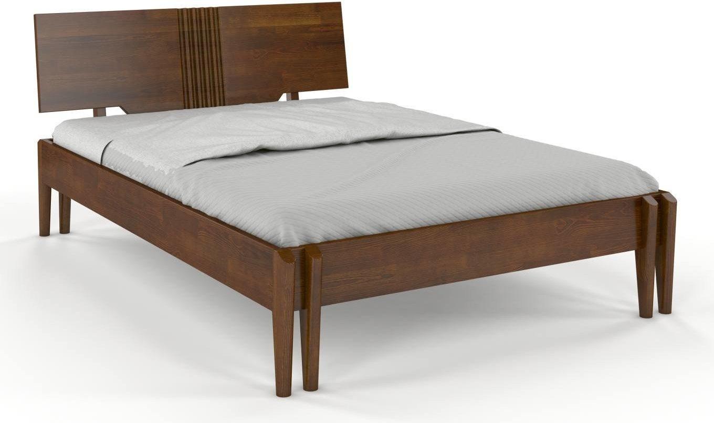 CHROB Masívna posteľ POZNAN z borovice - orech Rozmer postele: 140 x 200 cm