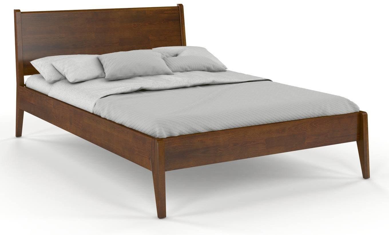 CHROB Masívna posteľ Radom z borovice - orech Rozmer postele: 180 x 200 cm