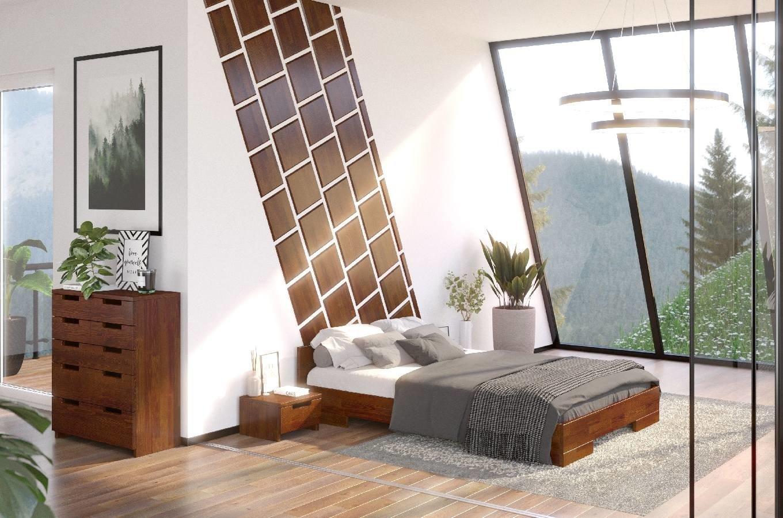 CHROB Posteľ z masívu borovice Spectrum - palisander Rozmer postele: 120 x 200 cm