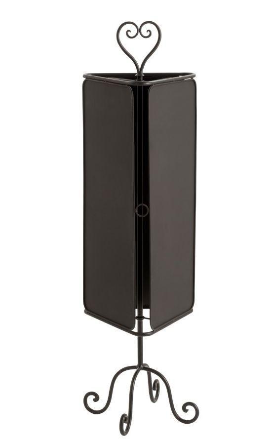 Čierna kovová otočná stojacie tabule Blakki - 32 * 32 * 115cm