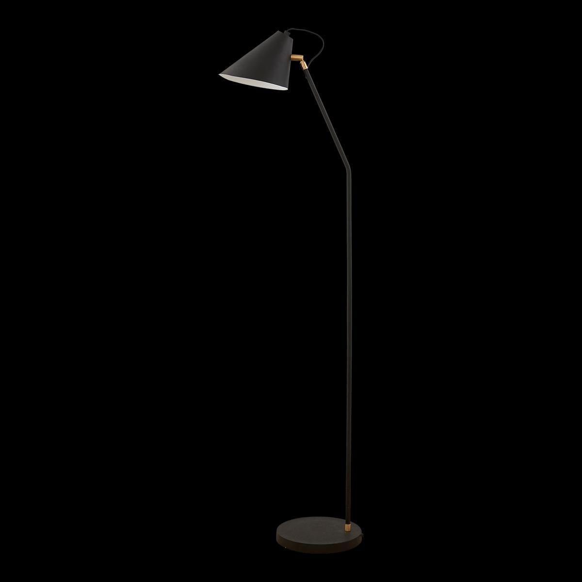 Čierna stojaca lampa Club