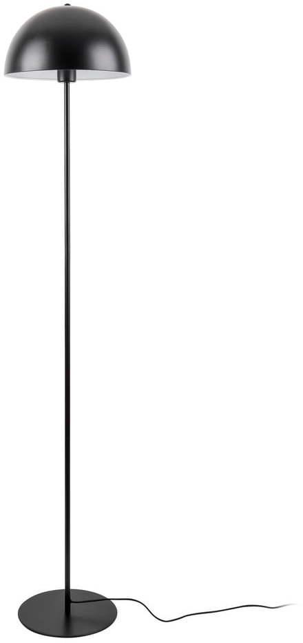 Čierna stojacia lampa Leitmotiv Bennet, výška 150 cm