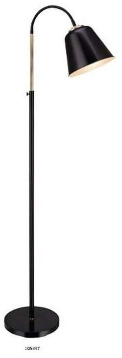 Čierna voľne stojacia lampa Markslöjd Kolding