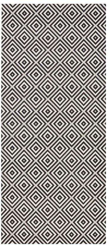 Čierno-biely vonkajší koberec Bougari Karo, 80 × 200 cm