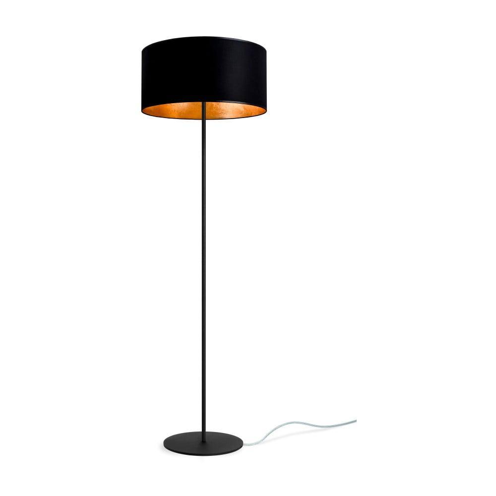 Čierno-zlatá stojacia lampa Sotto Luce Mika, ⌀ 40 cm