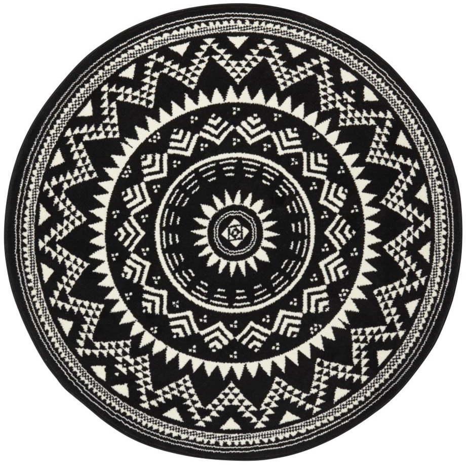 Čierny koberec Hansa Home Celebration, ⌀ 140 cm