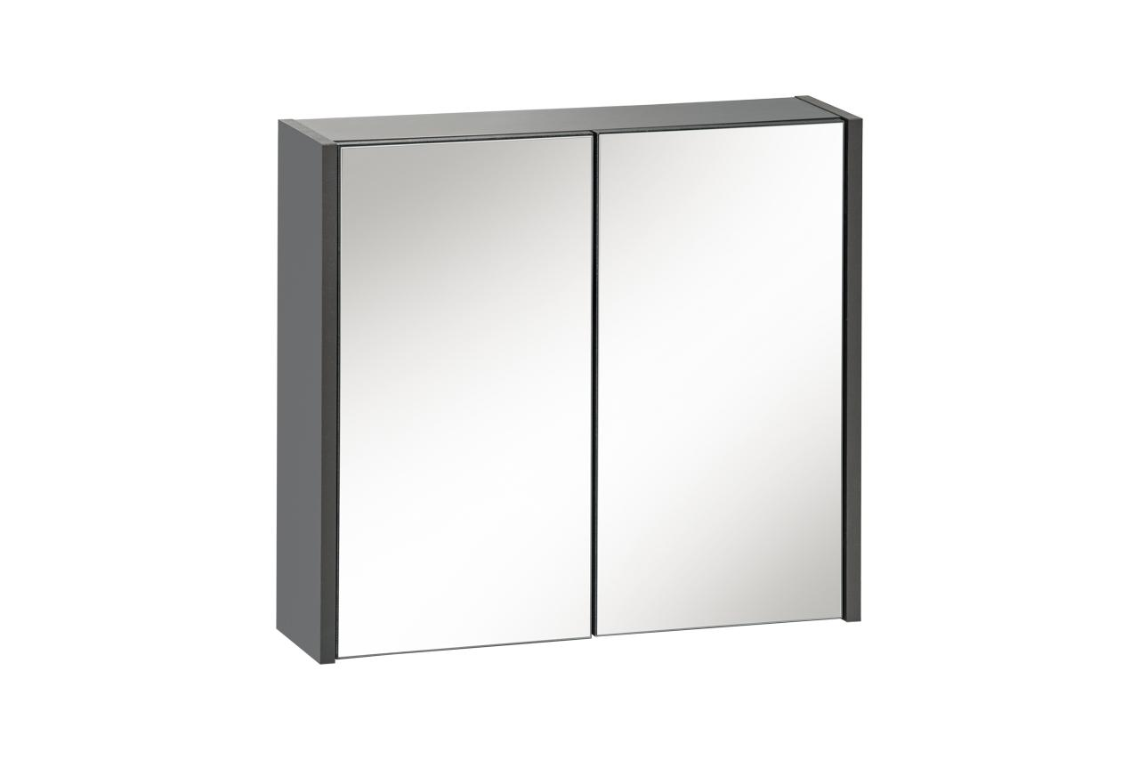 COM Skrinka vrchná zrkadlová IBIZA ANTRACYT 840