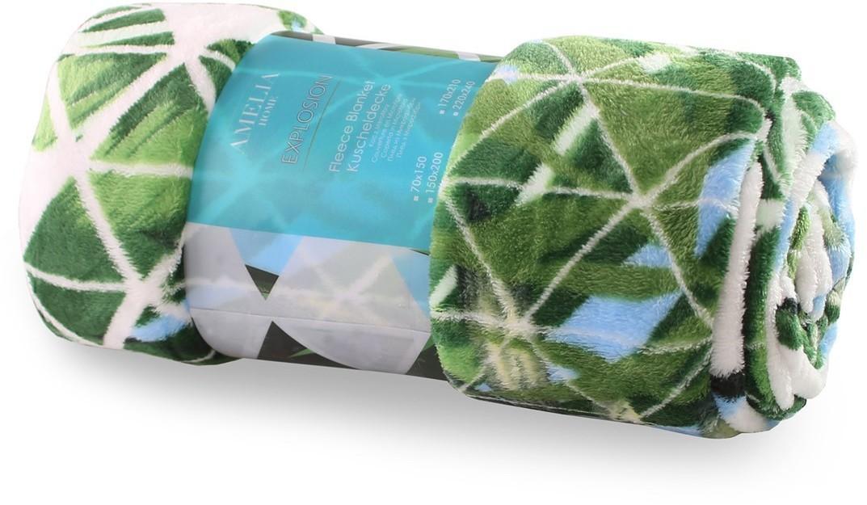 Deka z mikrovlákna AmeliaHome Exotic bielo-zelená