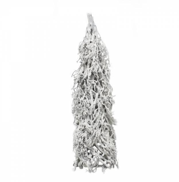 Dekorácia strom zo zasneženého prútia 16x60 cm