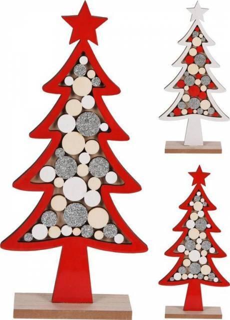 Dekorácia stromček vianočný 29 cm mix