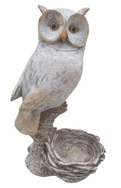 Dekoračné svietnik na čajovú sviečku Sova - 13 * 23 cm