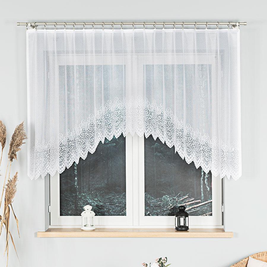 Dekorační oblouková krátká záclona VIOLETTA 120 bílá 250x120 cm MyBestHome