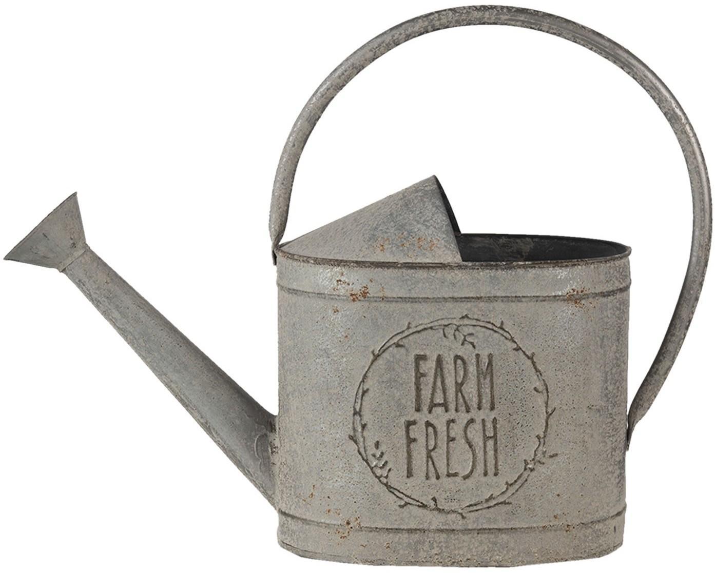 Dekoratívne sivá retro kanva Fresh farm - 45 * 16 * 33 cm