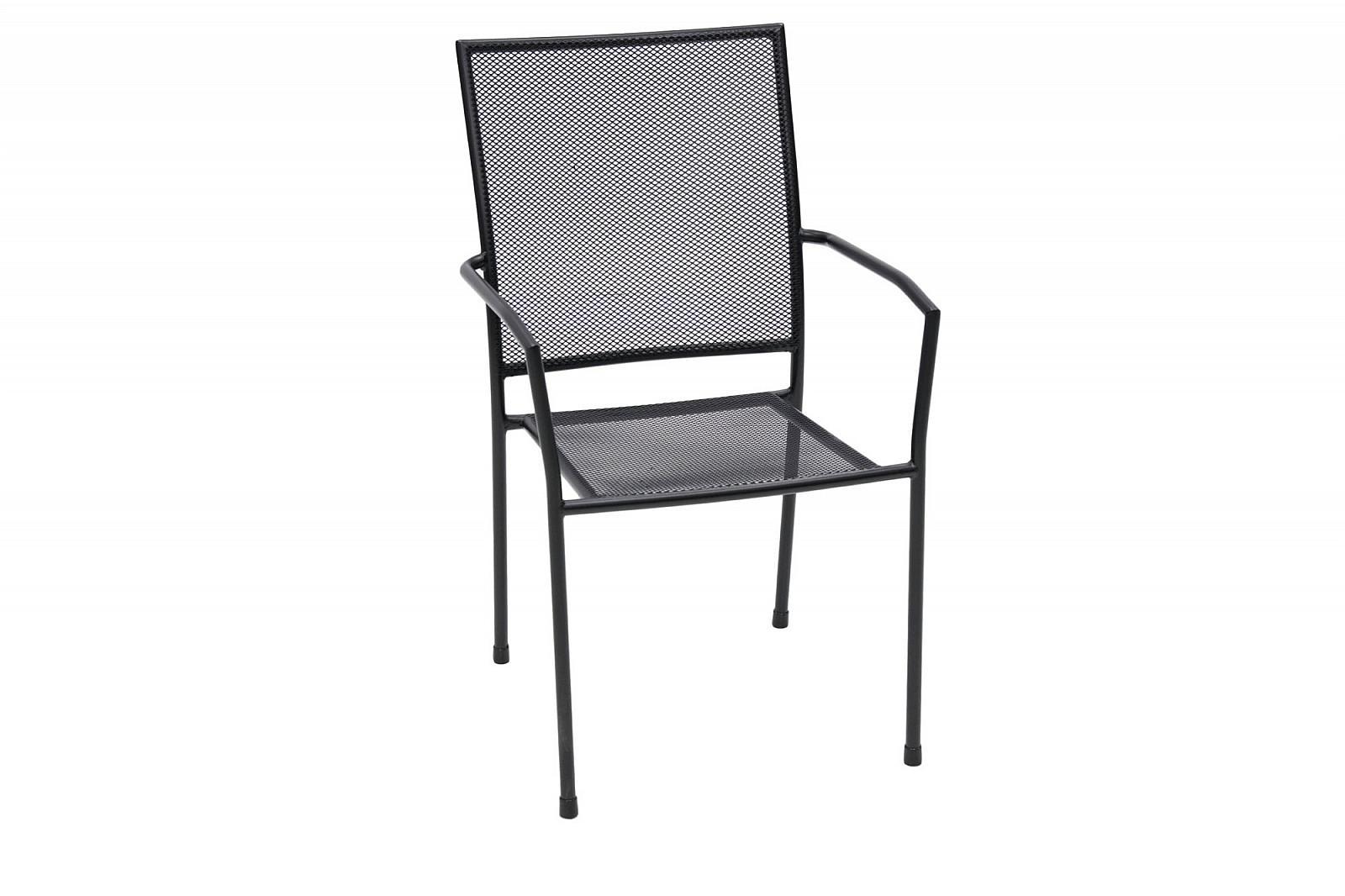 DEOKORK Kovová stolička MAYA (čierna)