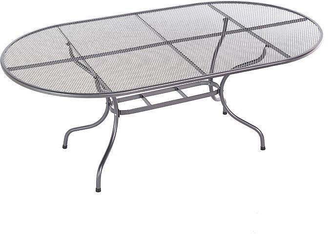 DEOKORK Kovový stôl oválny 160 x 95 cm