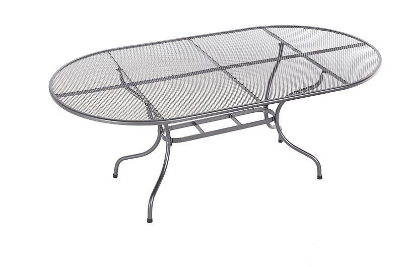 DEOKORK Kovový stôl oválny 190 x 105 cm