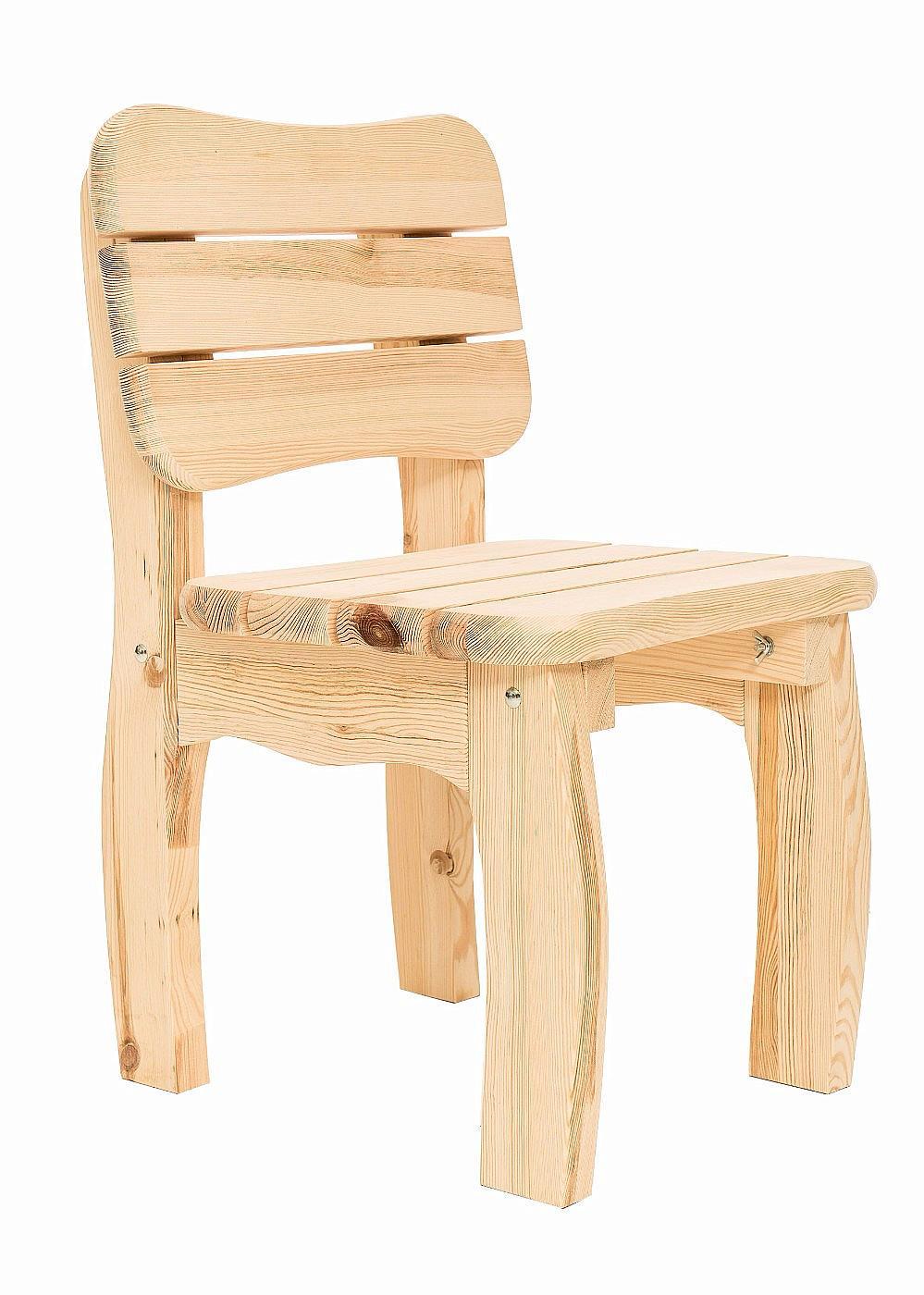 DEOKORK Masívna záhradná stolička z borovice VIKING (40 mm)