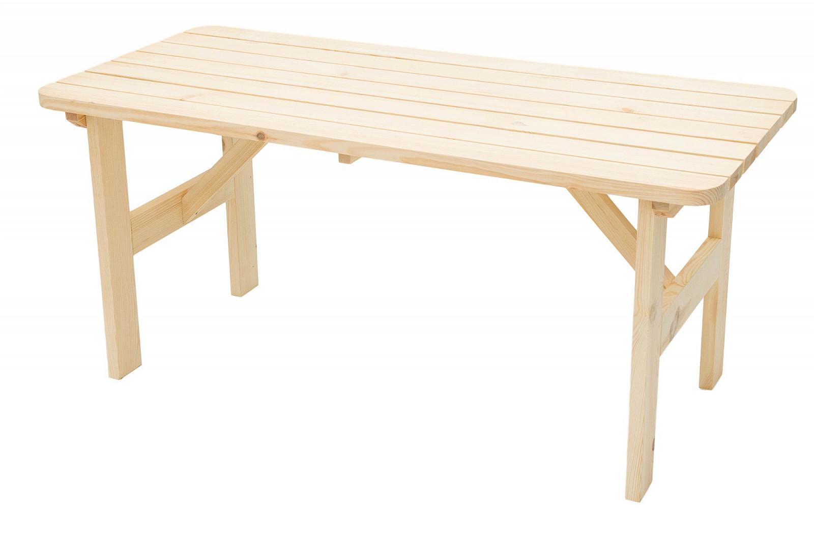 DEOKORK Masívny drevený záhradný stôl z borovice drevo 32 mm (150 cm)