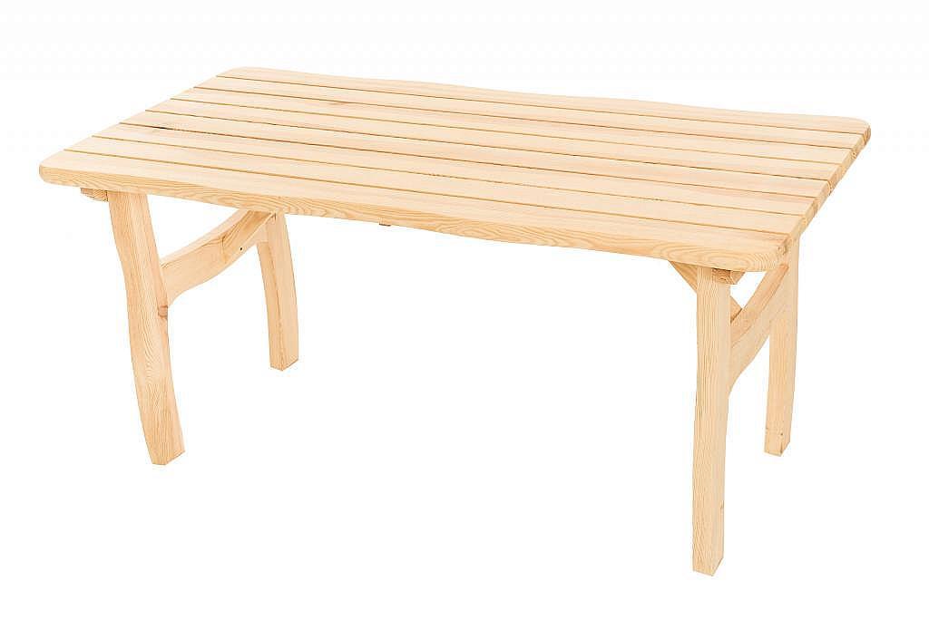 DEOKORK Masívny záhradný stôl z borovice VIKING (40 mm) - rôzne dĺžky 200 cm