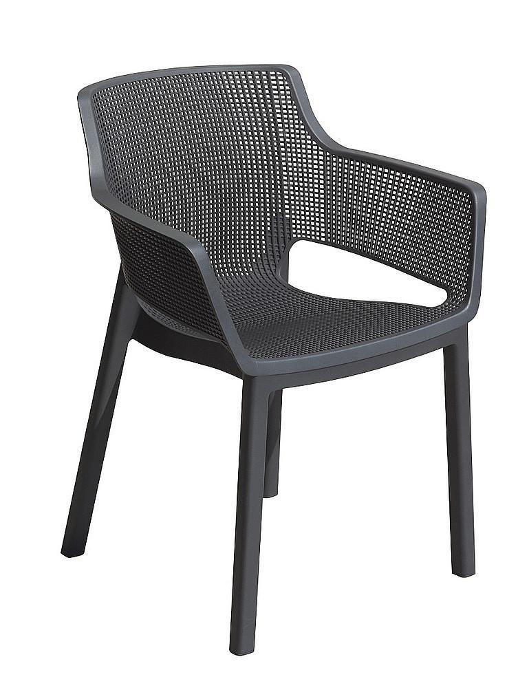 DEOKORK Záhradná plastová stolička MENORCA (antracit)