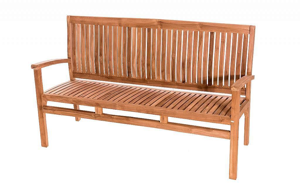 DEOKORK Záhradná teaková lavica HARMONY 150 cm