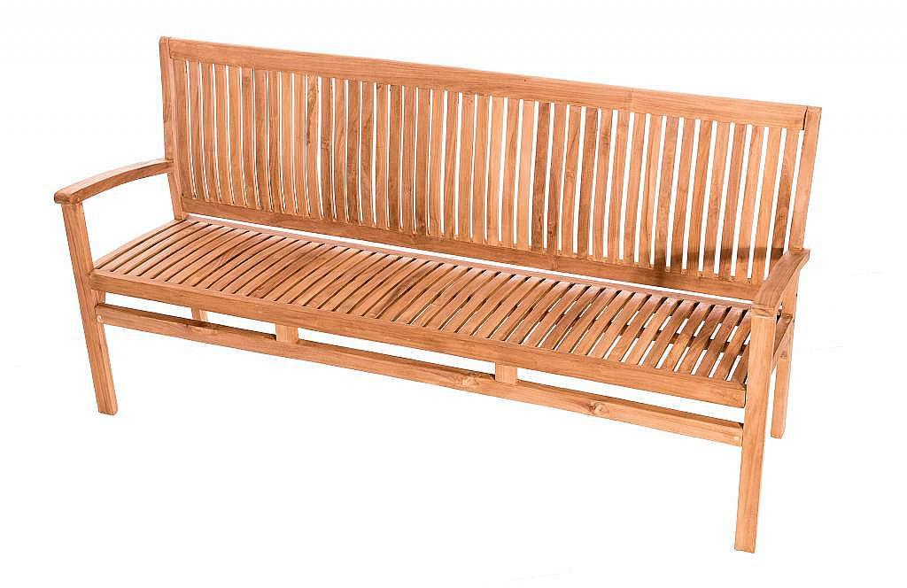 DEOKORK Záhradná teaková lavica HARMONY 180 cm