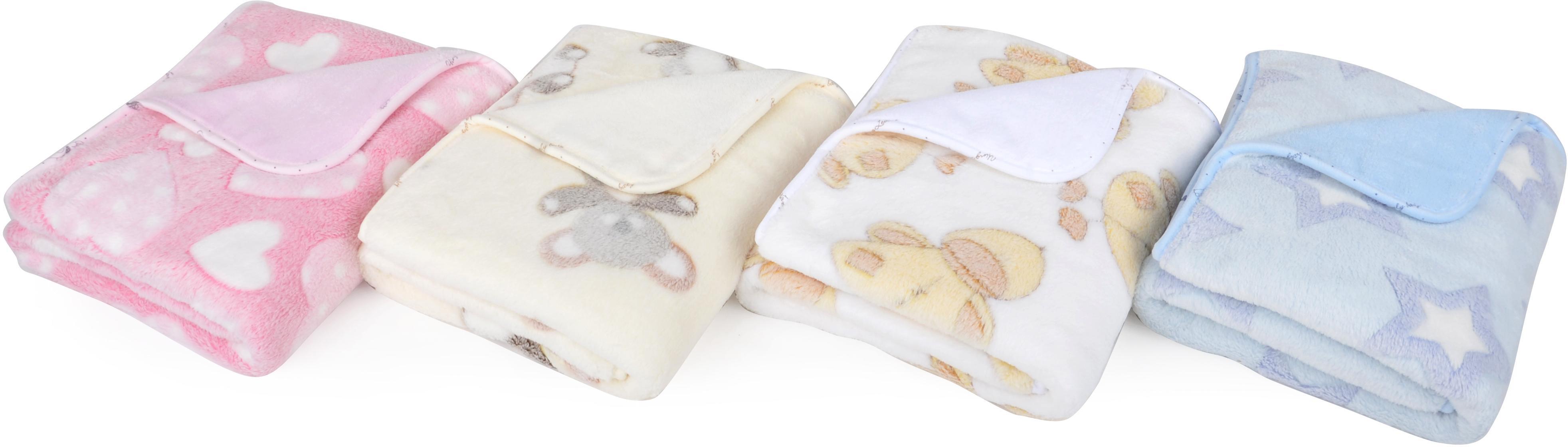 Dětská deka EMMA bílá motiv kačenky 80x90 cm Mybesthome