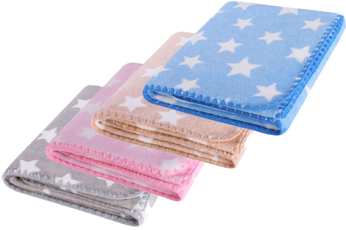 Dětská deka HAPPY STAR modrá s hvězdičkami 80x90 cm Mybesthome
