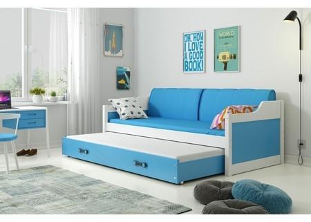 Detská posteľ alebo gauč s výsuvnou posteľou DAVID 200x90 cm Šedá Šedá