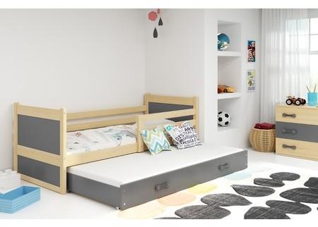 Detská posteľ s výsuvnou posteľou RICO 190x80 cm Bílá Bílá
