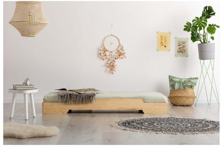 Detská posteľ z borovicového dreva Adeko BOX 8, 90 × 200 cm