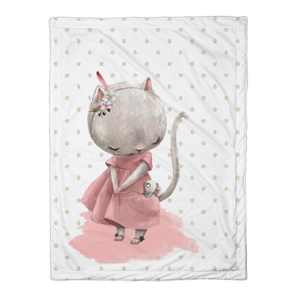 Detská prikrývka Mr. Little Fox Mouse, 100 x 70 cm