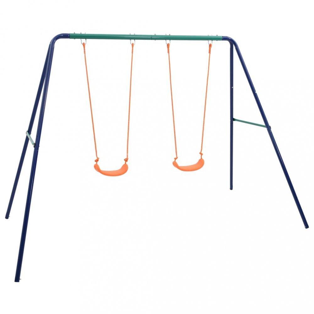 Detská sada hojdačiek modrá / oranžová / zelená Dekorhome